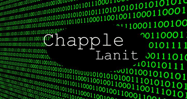vihreää koodia, jonka päällä teksti chapple lanit.