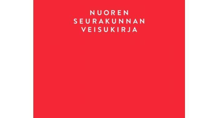 Punainen laulukirja, jossa teksti nuoren seurakunnan veisukirja 2020.